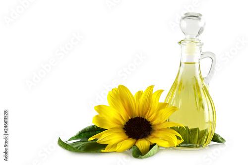 Fototapeta Sunflower oil isolated on white background obraz