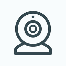 Webcam Outline Icon, Web Camer...