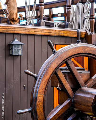Canvas Prints Ship Rigging sails and masts of EL GALEON 17th Century Spanish Galleon Replica while in Old Town Alexandria Virginia