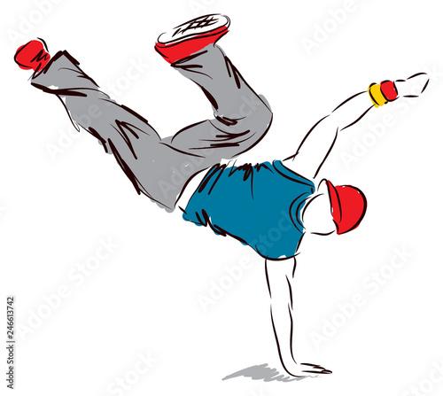 Fototapeta hip-hop dancer dancing illustration 2 obraz na płótnie
