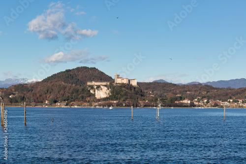 Fotografering  The castle of Angera on Lake Maggiore