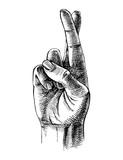 Fingers crossed sketch - 246629177