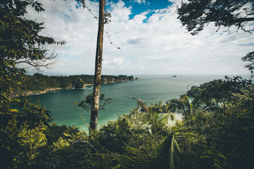 Tropical bay with ocean view Costa Rica at Manuel Antonio natural park