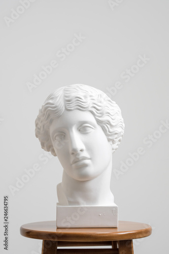 Plaster head, antique sculpture for learning to draw Fototapeta