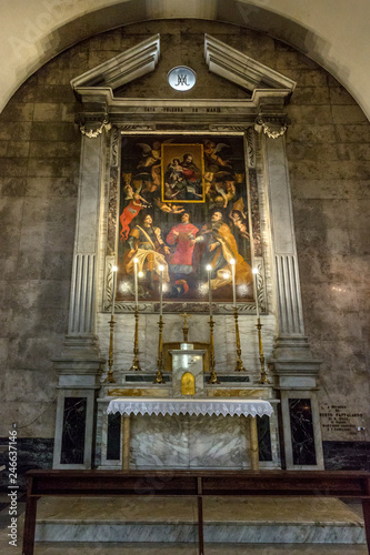 Tuinposter Imagination Dettagli Interno Chiesa San Giuseppe Abate - Sassari - Sardegna