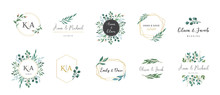 Wedding Logos, Hand Drawn Eleg...