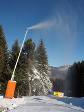 Snow Cannon, French Alps In January