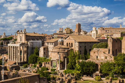 Poster Ruine View of the Roman Forum. Rome, Italy