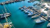 Fototapeta Fototapety z morzem do Twojej sypialni - port morze błękit