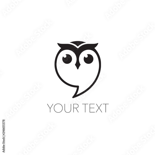Spoed Foto op Canvas Uilen cartoon Owl icon vector Illustration