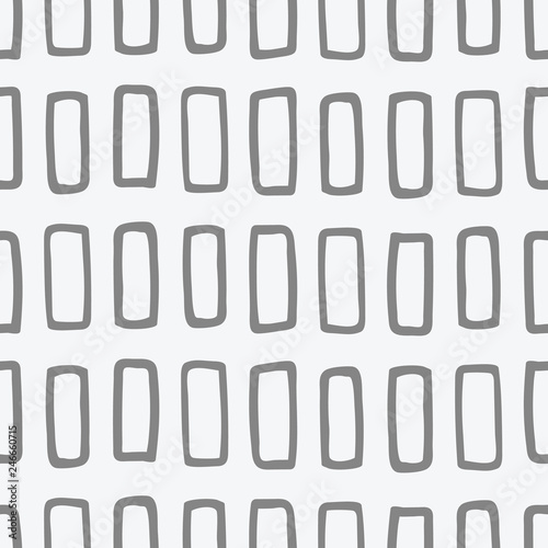 Fotografie, Obraz  Varied hand drawn rectangle shapes, organized in rows and columns, seamless vector repeat pattern