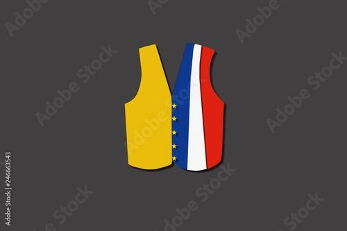 Fotografía  French yellow vest paper art