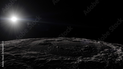 Foto op Canvas Heelal Moon in outer space, surface. High quality, resolution, 4k. This image elements furnished by nasa