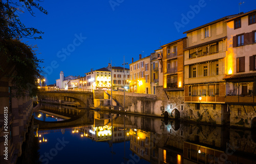 View of Castres in twilight