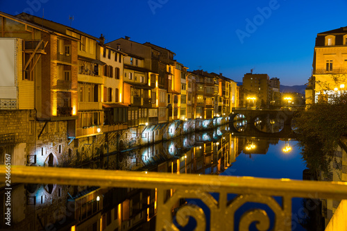 Evening view of Castres, France