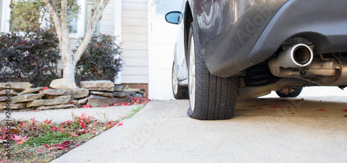 Close Up Flat Tire Canvas Print