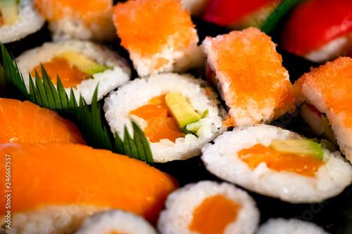 Poster Sushi bar Lachs & Thunfisch Sushi