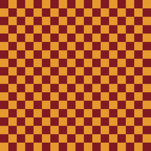 Red And Gold Seamless Pattern - Checkerboard Squares Repeating Pattern Design