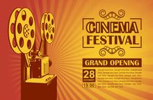 Cinema Poster With Retro Film ...