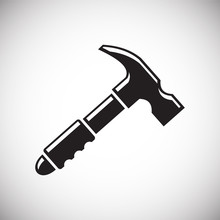 Tool Hammer Icon On White Background For Graphic And Web Design, Modern Simple Vector Sign. Internet Concept. Trendy Symbol For Website Design Web Button Or Mobile App