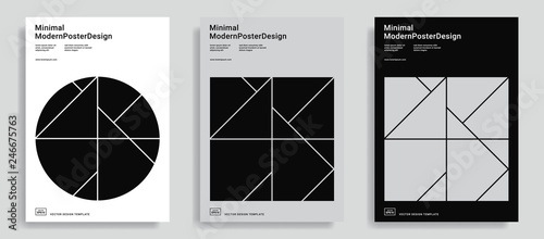 Fotomural  Design templates with simple geometric shapes.