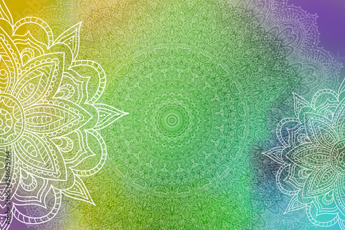 Mandala Grunge Background Canvas Print