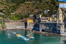 Vernazza Harbor Cinque Terre Italy