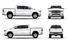 Realistic Car. Truck, Pickup. ...