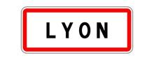 LYON Panneau Entrée Agglomération