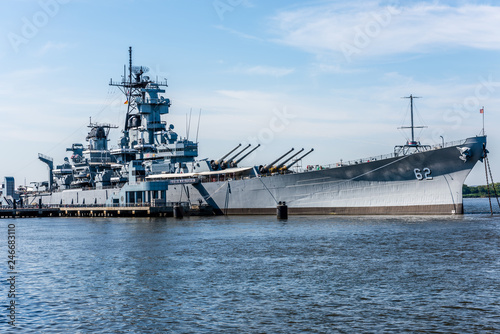 Photo The USS New Jersey Battleship in Camden, New Jersey
