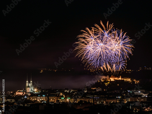 Firework over the castle