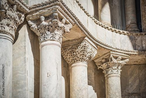 Fotobehang Historisch geb. Close-up view of marble columns