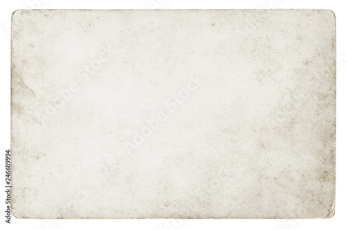 Fotografie, Obraz  Vintage paper background isolated - (clipping path included)
