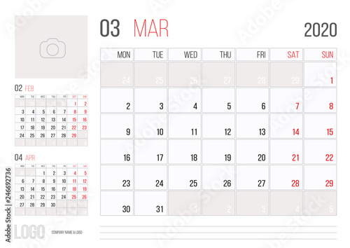 Calendar 2020 February And March.Calendar 2020 Planner Corporate Template Design March Month Buy