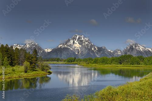 Snake River is in Grand Teton National Park in northwestern Wyoming Fototapeta