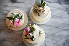 Petit Gateaux With Floral Deco...