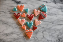 Small Heart Shaped Cookies Arr...