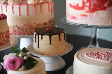 Group Of Decorated Cakes Displ...