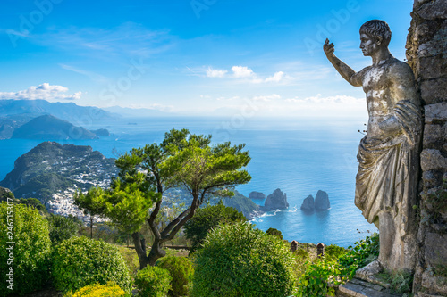Gris traffic Beautiful view of Capri island from Mount Solaro - Capri, Italy