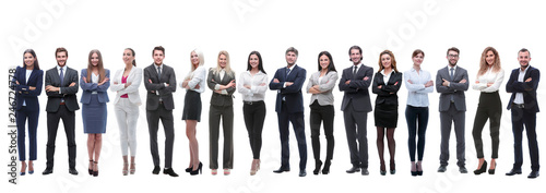 Obraz panoramic photo of a big business team standing together - fototapety do salonu