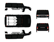 Hummer Body Graphic (police Version)
