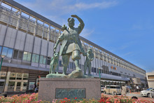 Statue Momotaro And His Friends Font Of Station