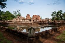 Barai Pond Of Prasat Muang Tam Castle In Buriram, Thailand