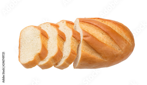 Valokuva  Sliced bread isolated on white background