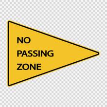 Symbol  No Passing Zone Sign O...