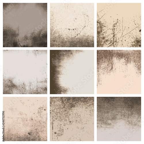 Beige distressed patterns set Fototapete