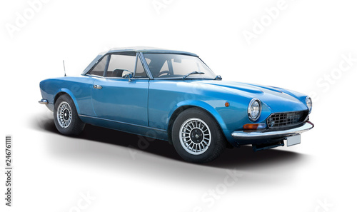 Poster Vintage voitures Classic Italian sport car isolated on white