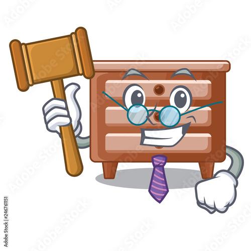 Foto  Judge shape of bedside table shape funny