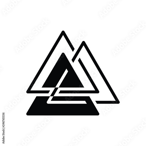 Photo  Black solid icon for asgard logo