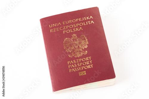 Obraz paszport na białym tle - fototapety do salonu